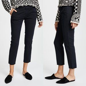 Nili Lotan East Hampton Pants Dark Navy Raw Edge